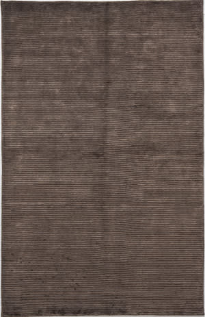 Due Process Nouveau Stripes Cola Area Rug