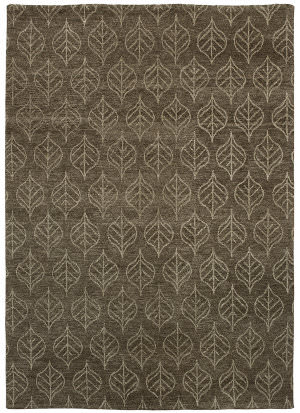 Due Process Novell Fauna Brown Area Rug
