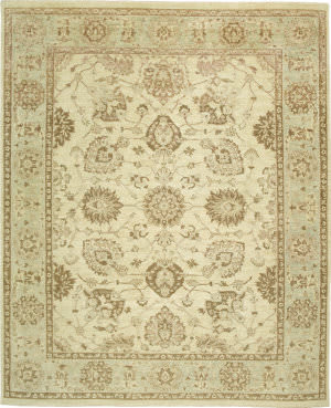Due Process Peshawar Distressed Distressed Shiraz Ivory - Slate Area Rug