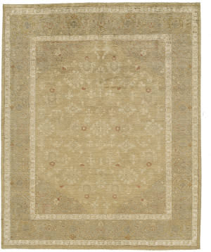 Due Process Peshawar Ghiordes Gold - Taupe Area Rug