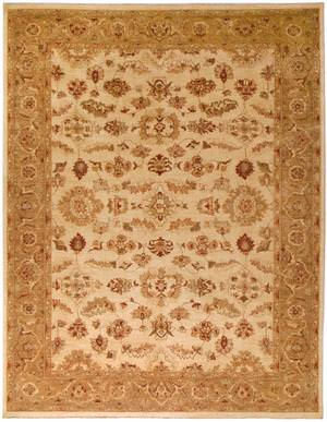 Due Process Peshawar Lahore Ivory-Gold Area Rug