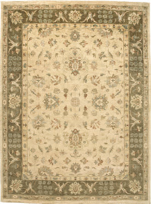 Due Process Peshawar Kashan Cream - Brown Area Rug