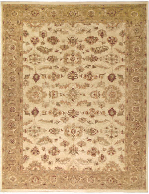Due Process Peshawar Lahore Ivory - Gold Area Rug