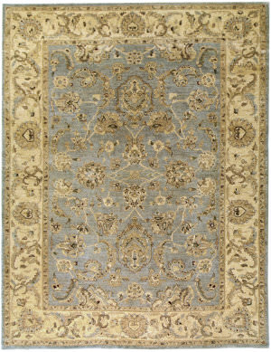 Due Process Peshawar Mahal Grey - Cream Area Rug