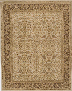 Due Process Rambagh Yezd Beige - Brown Area Rug