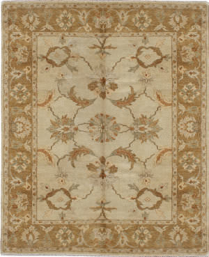 Due Process Supershine Agra Ivory - Camel Area Rug