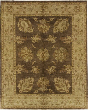 Due Process Supershine Oushak Brown - Beige Area Rug