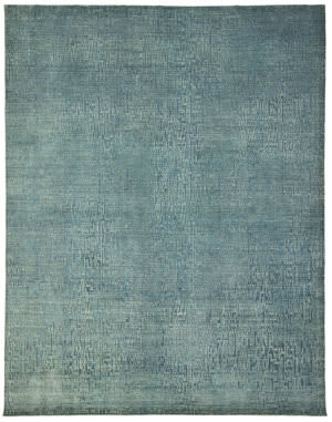 Due Process Textures Vested Teal Area Rug