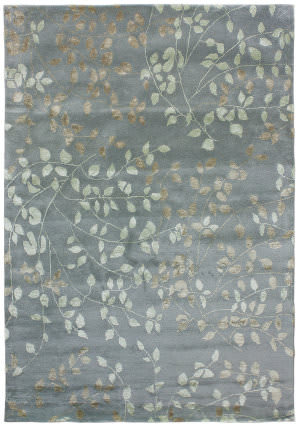 Due Process Tufted Leaves Steel Area Rug