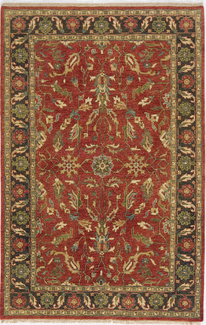 Due Process Thana Ii Ii Oushak Red - Navy Area Rug