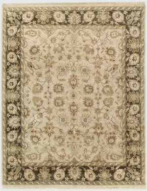 Due Process Thana Kashan Fawn - Mocha Area Rug