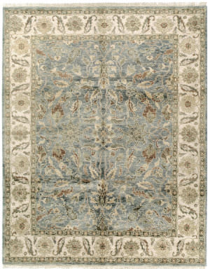 Due Process Thana Oushak Light Blue - Cream Area Rug
