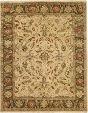 Due Process Thana Oushak Light Gold - Mocha Area Rug