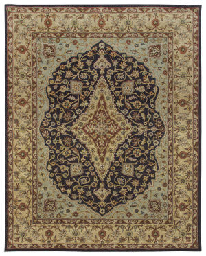 Due Process Tufted Mohtesham Covered Field Black - Beige Area Rug