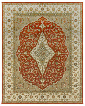 Due Process Tufted Mohtesham Covered Field Rust - Ivory Area Rug