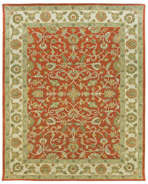 Due Process Tufted Tehran Rust - Ivory Area Rug