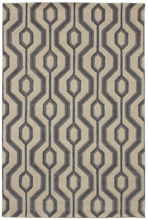 Due Process Tufted Jacqueline Slate Area Rug