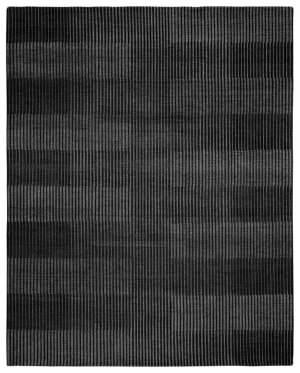 Due Process Century Isometry Ebony Area Rug