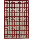 Due Process Adaptations Gated Garnet Area Rug