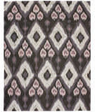 Due Process Flatweave Ikat V Brown Area Rug