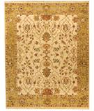 Due Process Jagapatti Lilihan Cream-Gold Area Rug