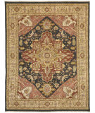 Due Process Jinan Serapi Brown - Saffron Area Rug
