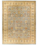 Due Process Kalasha Isphahan Light Blue - Cream Area Rug