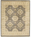 Due Process Kashmir Kirman Black - Light Gold Area Rug
