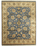 Due Process Kendra Kashan Teal - Cream Area Rug