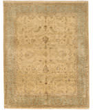 Due Process Khyber Lilihan Cream - Light Blue Area Rug