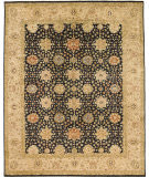 Due Process Khyber Mahal Black - Cream Area Rug
