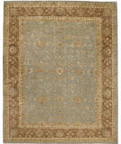 Due Process Khyber Polonaise Light Blue - Brown Area Rug