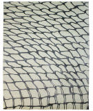 Due Process Lhasa Fish Net Ivory - Steel Area Rug