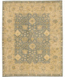 Due Process Peshawar Angora Light Blue - Cream Area Rug