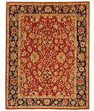 Due Process Peshawar Agra Red-Black Area Rug