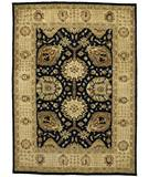 Due Process Peshawar Shah Abbas Black-Cream Area Rug