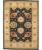 Due Process Peshawar Shah Abbas Black - Cream Area Rug