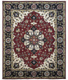 Due Process Tufted Kashan Covered Field Red - Navy Area Rug