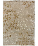 Due Process Tufted Leaves Beige Area Rug