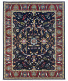 Due Process Tufted Oushak Navy - Red Area Rug