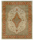 Due Process Tufted Mohtesham Covered Field Ivory - Rust Area Rug