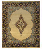 Due Process Tufted Mohtesham Open Field Beige - Black Area Rug