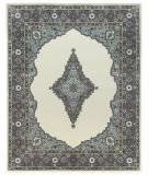 Due Process Tufted Mohtesham Open Field Ivory - Frost Grey Area Rug
