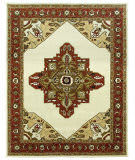 Due Process Tufted Serapi Open Field Ivory - Brick Area Rug