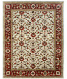 Due Process Tufted Shield Ivory - Brick Area Rug