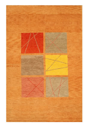 Eastern Rugs One-Of-A-Kind 18486 Rust Area Rug