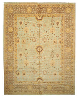 Eastern Rugs Peshawar 21799 Green Area Rug
