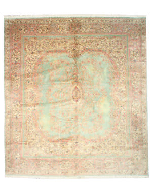 Eastern Rugs Kerman 21803 Green Area Rug