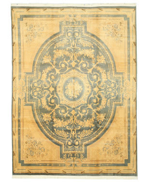 Eastern Rugs Savonnerie 9028 Green Area Rug