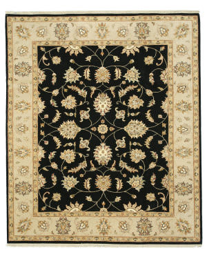 Eastern Rugs Agra 9111 Black Area Rug